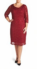 Plus Size Made in Britain sequin lace dress