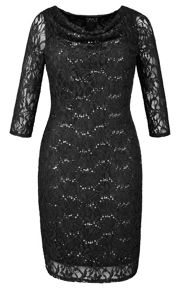 Made in Britain sequin lace dress