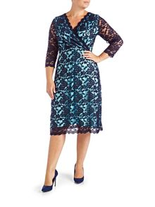 Grace Plus Size lace midi dress