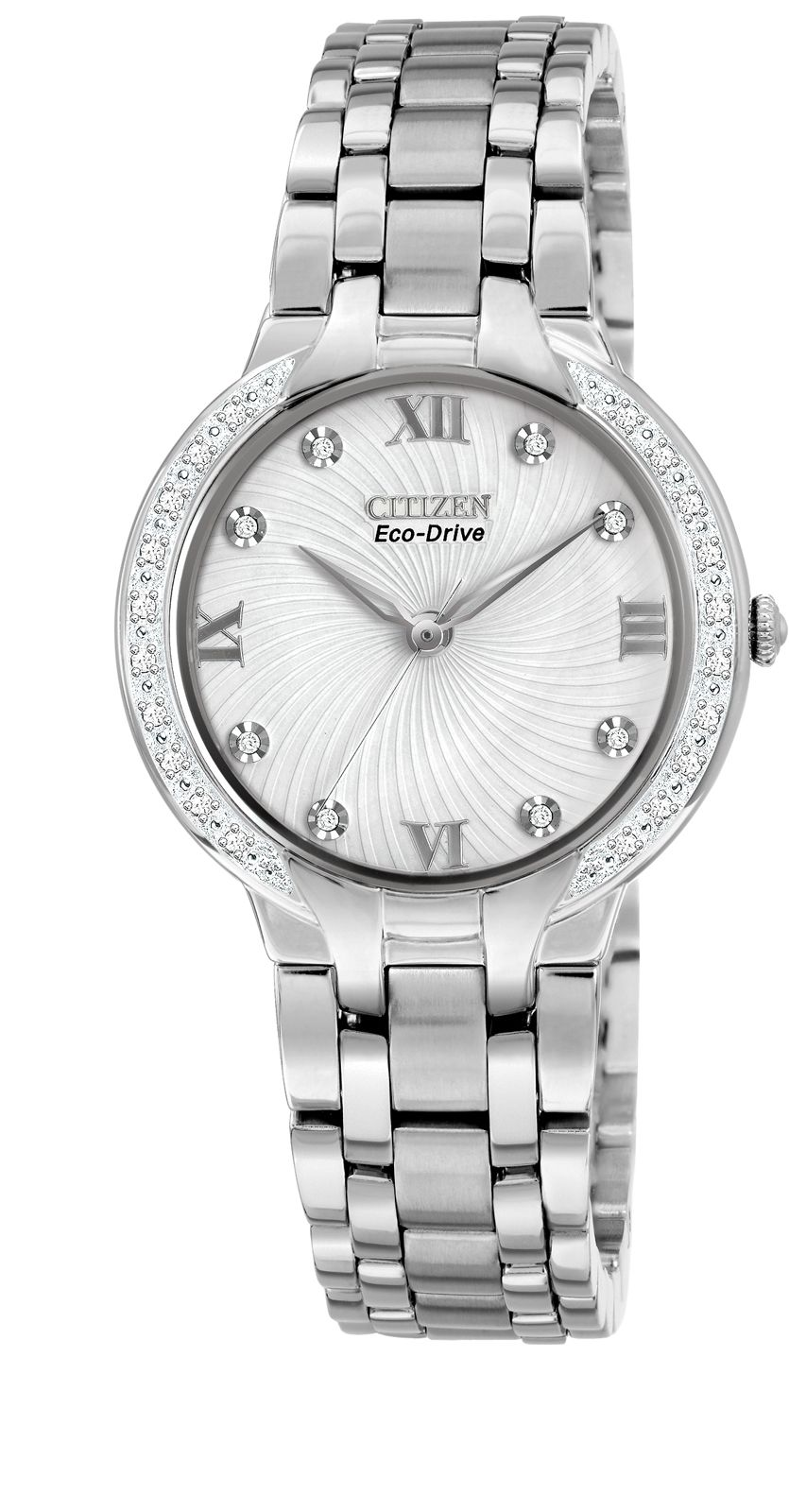 Eco-drive bella 28 diamonds ladies watch