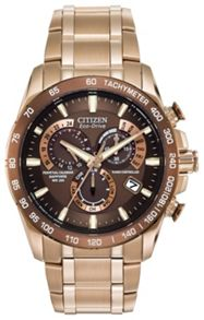 Citizen AT4106-52X mens rose gold bracelet watch