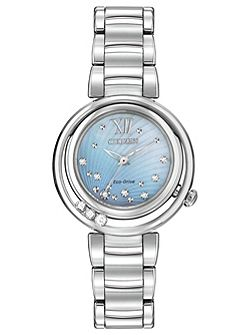 EM0320-59D ladies silver bracelet watch