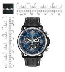 BY0109-06L mens black strap blue watch