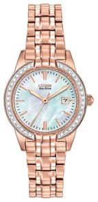 Citizen EW1683-65D ladies rose gold bracelet watch