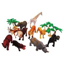Jungle animal figures tub - 20 pieces