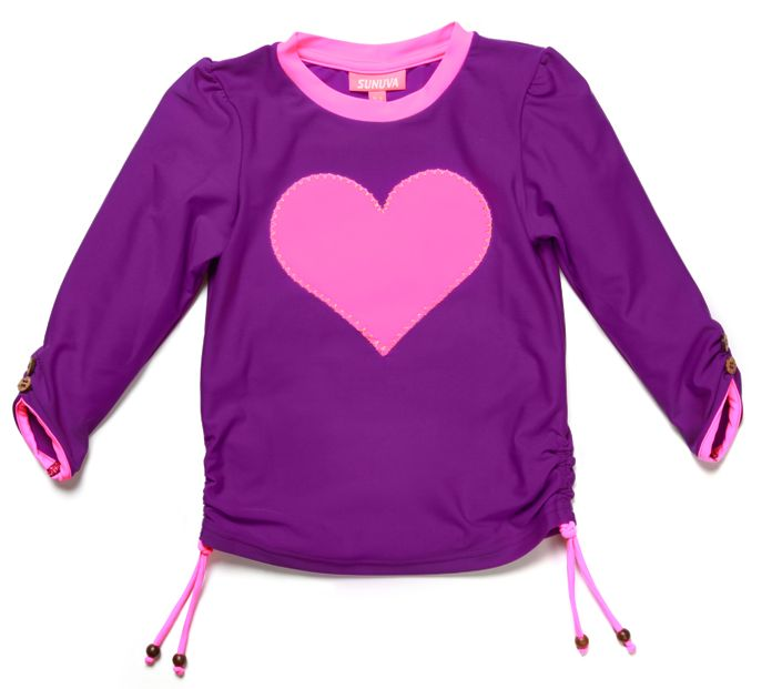 Girl`s heart rash vest