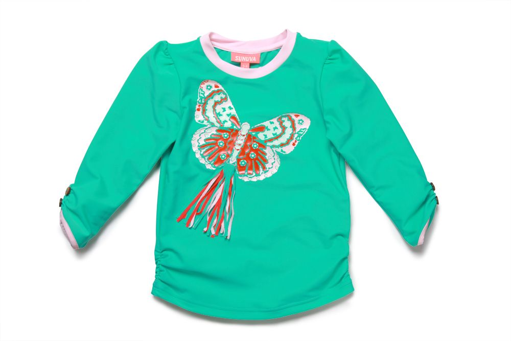 Girl`s butterfly rash vest