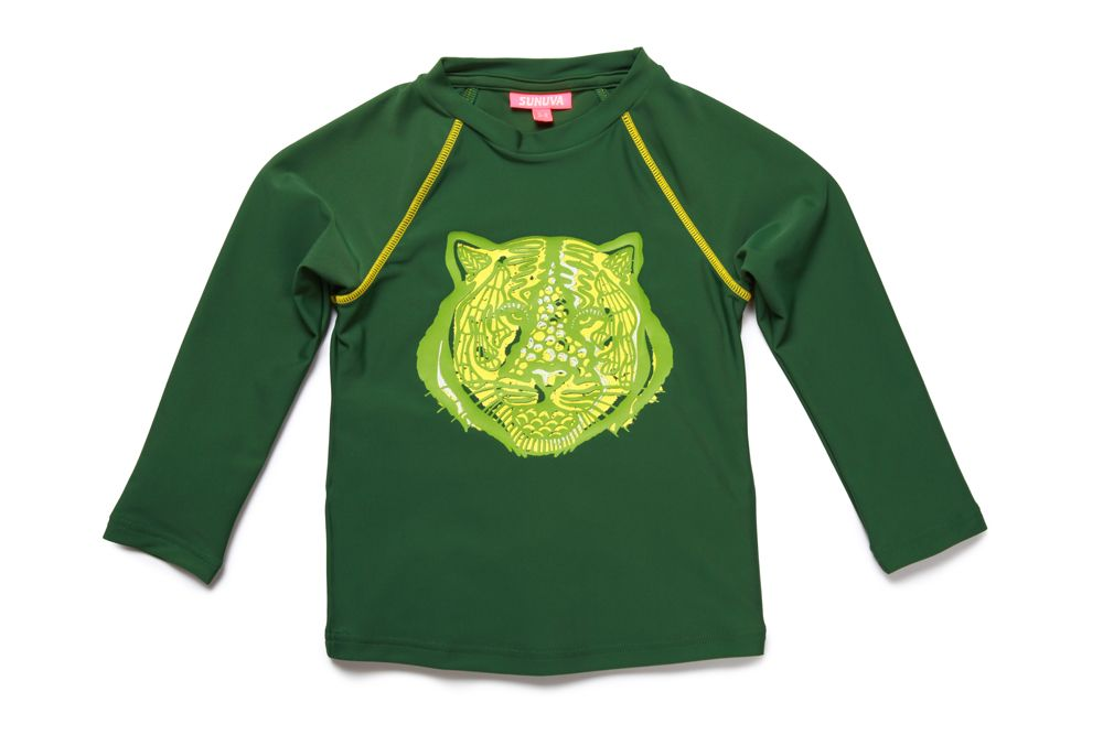 Boy`s tiger rash vest