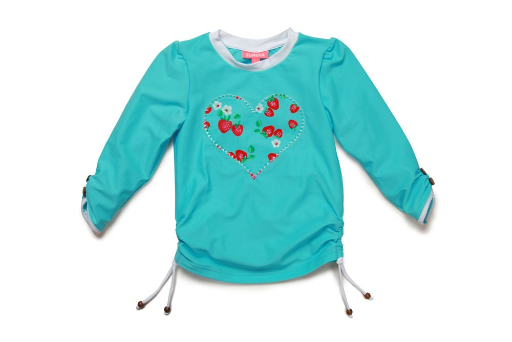 Girl`s strawberry rash vest