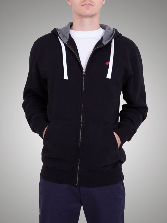 Signature zip thru hoody