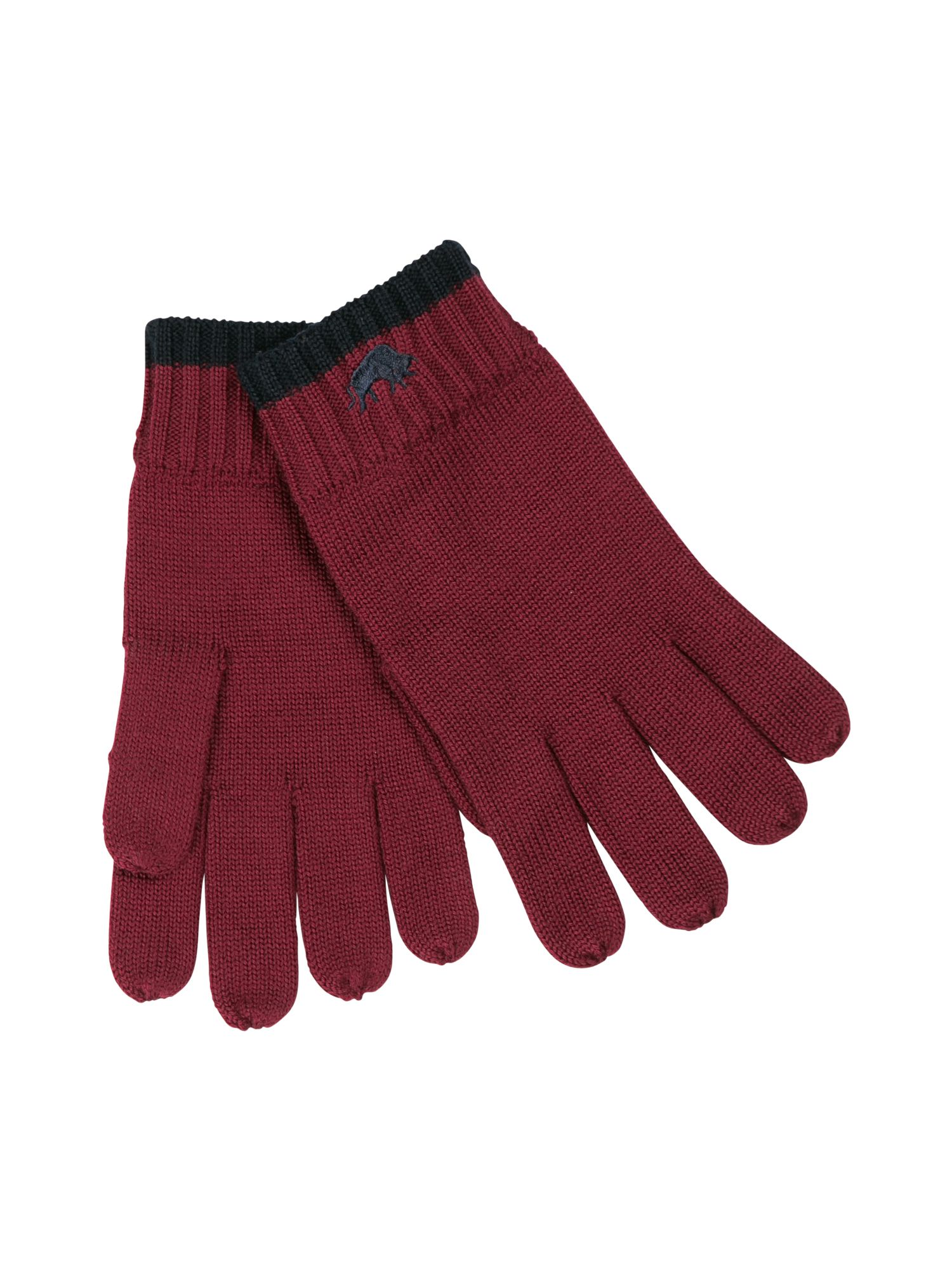 Rb wool gloves claret