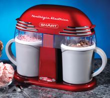 Smart Novelty Retro Double Ice-cream Maker