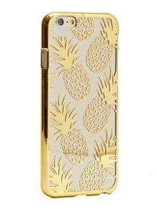 Skinnydip iPhone 6 gold pineapple