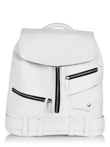 Skinnydip White biker backpack
