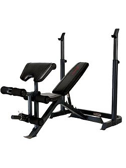 Eclipse be3000 weight bench with squat rack
