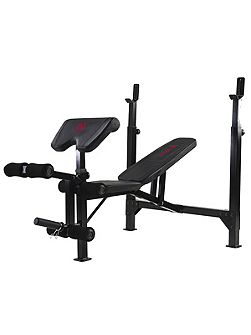 Eclipse be5000 olympic weight bench with rack