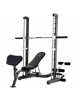 Pure compact smith machine weight bench with fold