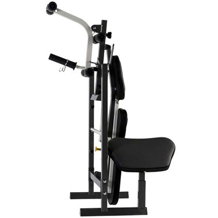 Tunturi Pure compact weight bench and rack with folding d