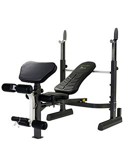 Pure mid-width weight bench and rack with folding