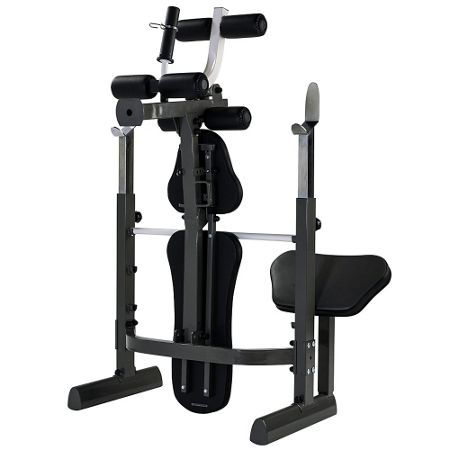 Tunturi Pure mid-width weight bench and rack with folding