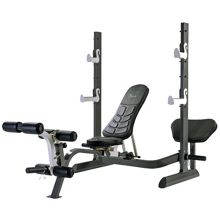 Tunturi Pure olympic weight bench with rack and folding d