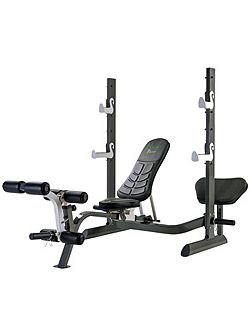 Pure olympic weight bench with rack and folding