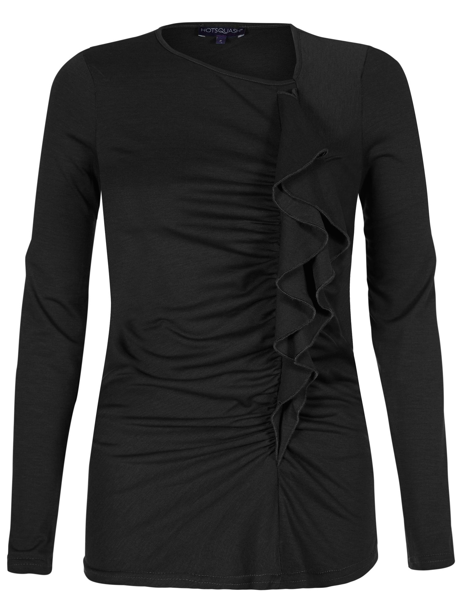 HotSquash ThinHeat top with frill detail, Black