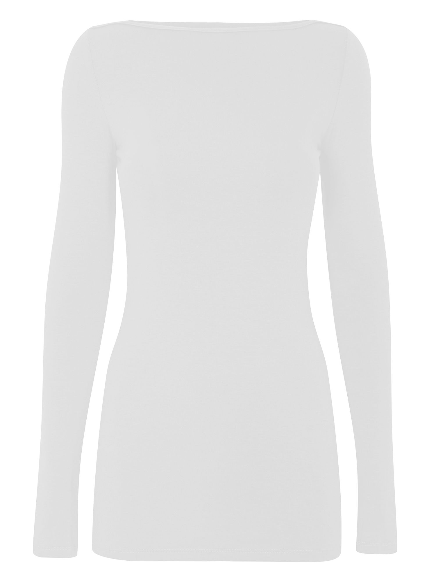HotSquash Close fitting boat neck top, White