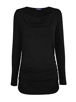 ThinHeat close fitting cowl neck top