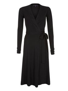 Wrap dress in thinheat fabric