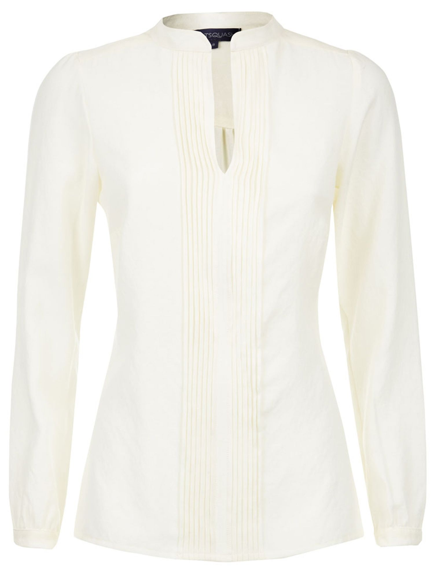 HotSquash Pleat blouse in clever fabric, Cream