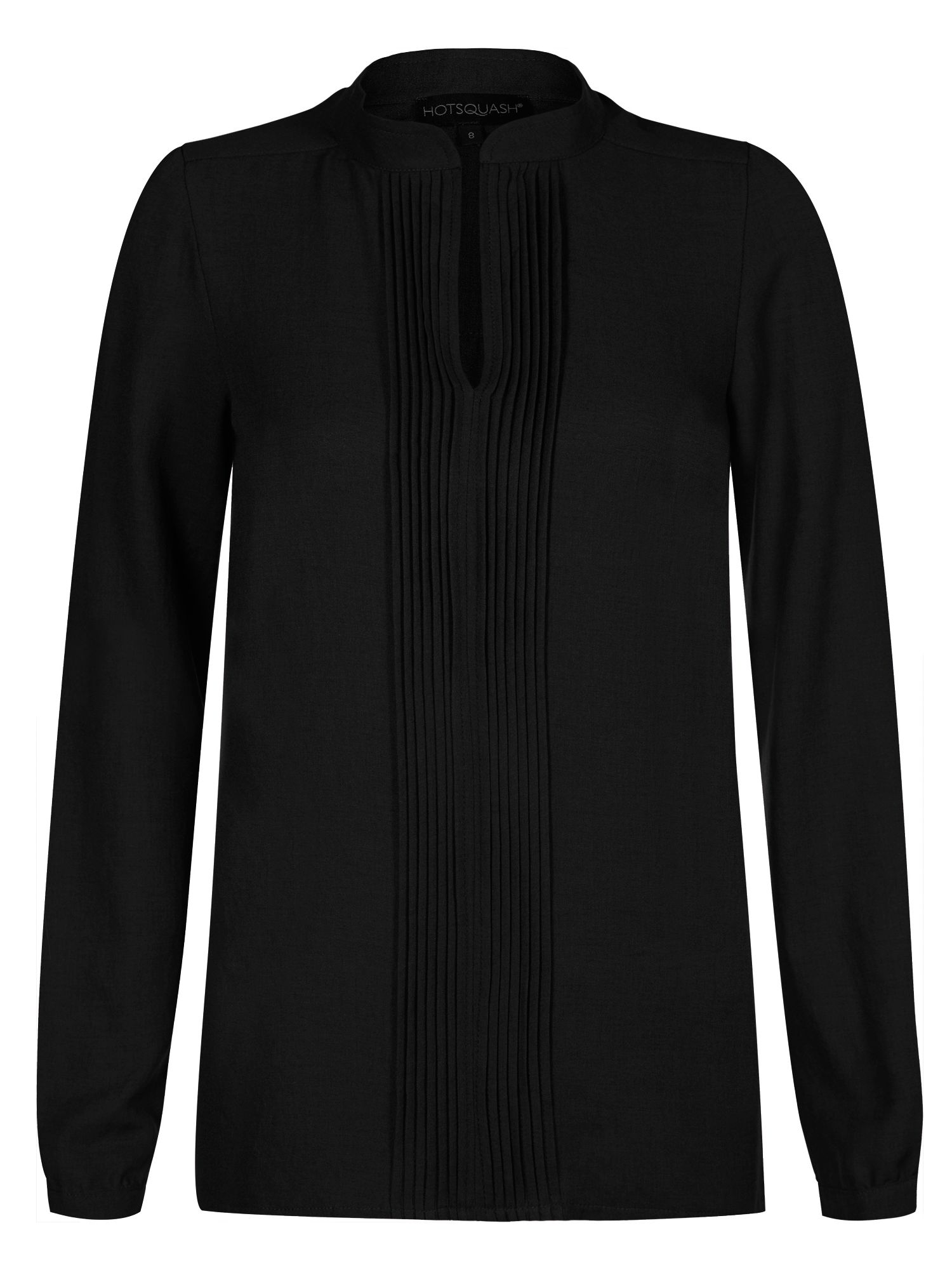 HotSquash Pleat blouse in clever fabric, Black