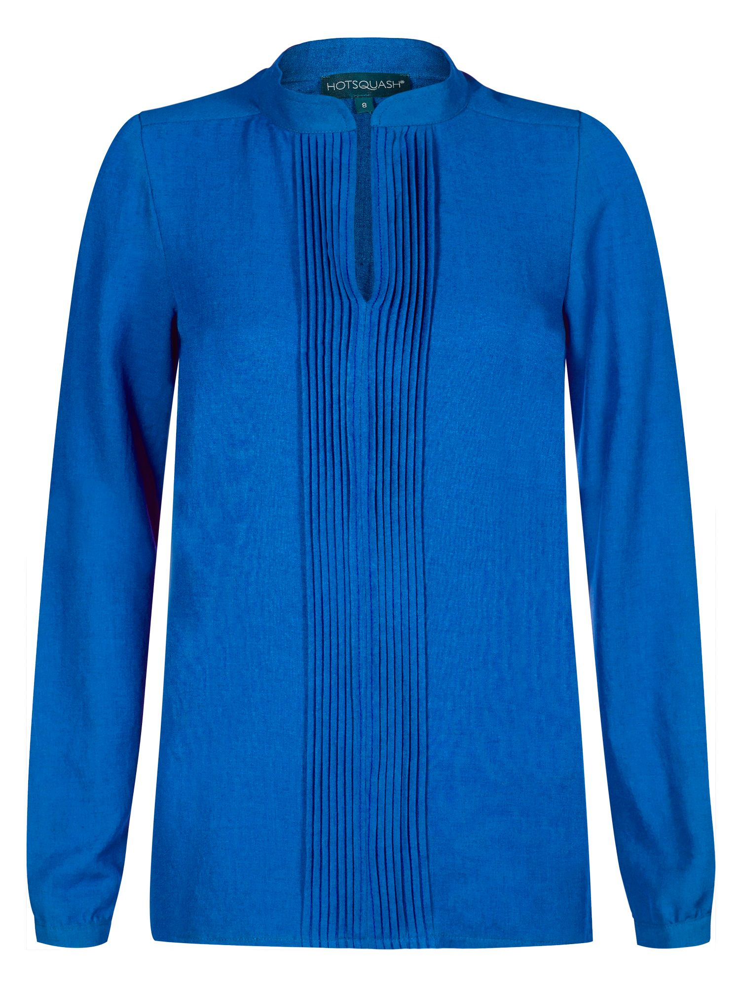 HotSquash Pleat blouse in clever fabric, Cobalt