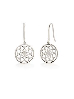 Dreamcatcher earrings sterling silver