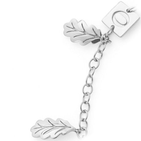 OAK Swept away leaf charm bracelet