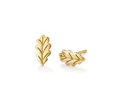OAK Tiny giant oak leaf stud earrings