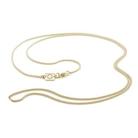 OAK Short 18ct gold vermeil curb chain