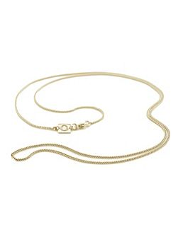 Long 18ct yellow gold vermeil curb chain