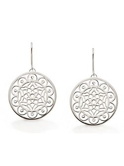 Dream big dreamcatcher silver earrings