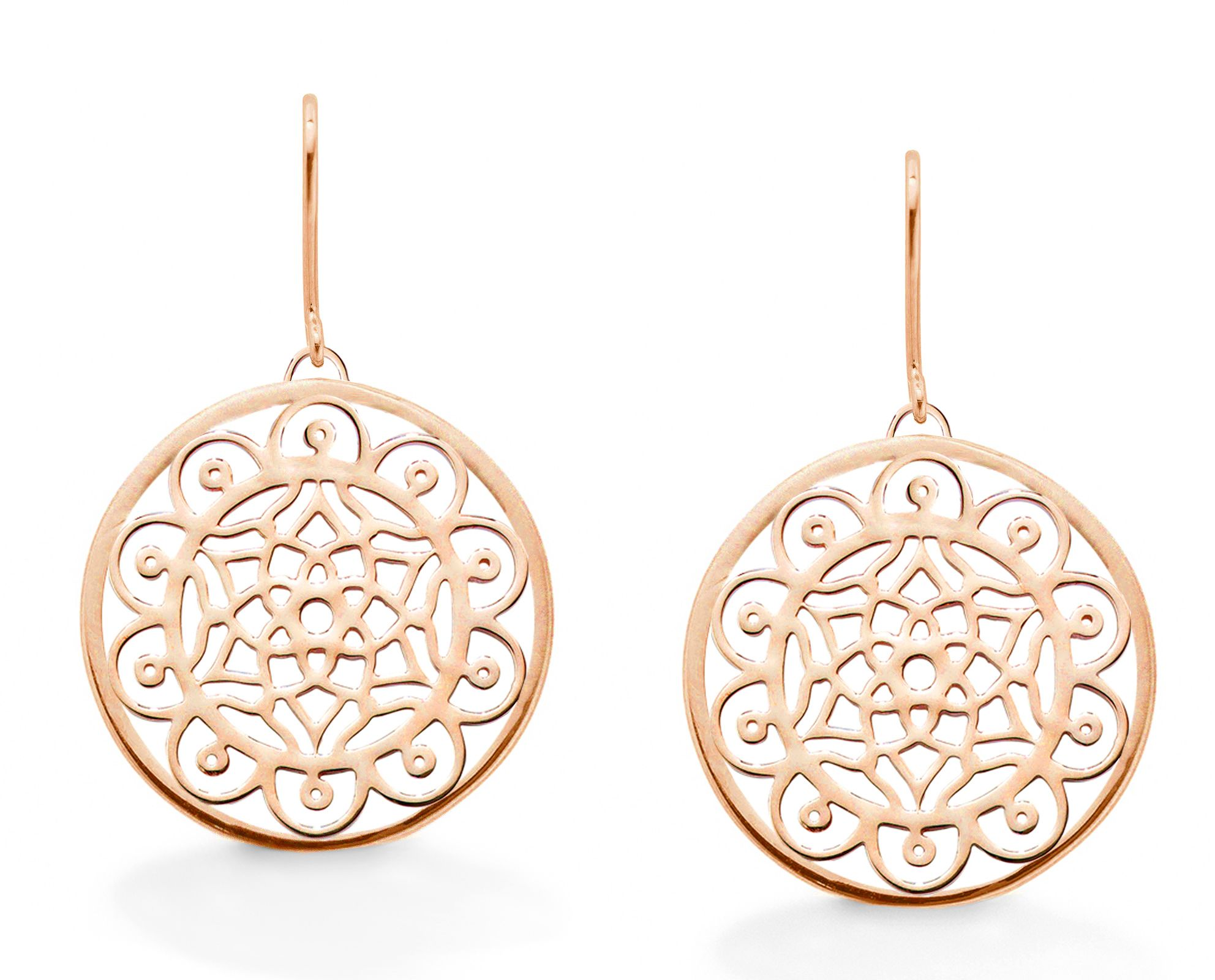 oak dream big dreamcatcher rose earrings