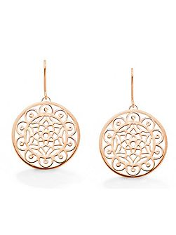 Dream big dreamcatcher rose earrings