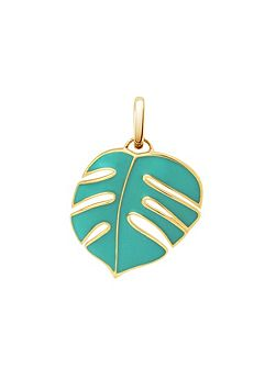 Monsoon palm leaf pendant charm