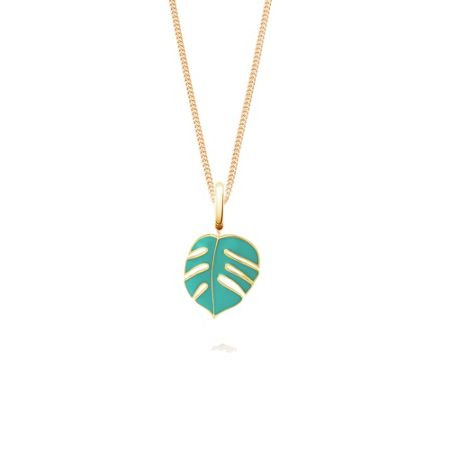 OAK Mini monsoon palm leaf pendant charm