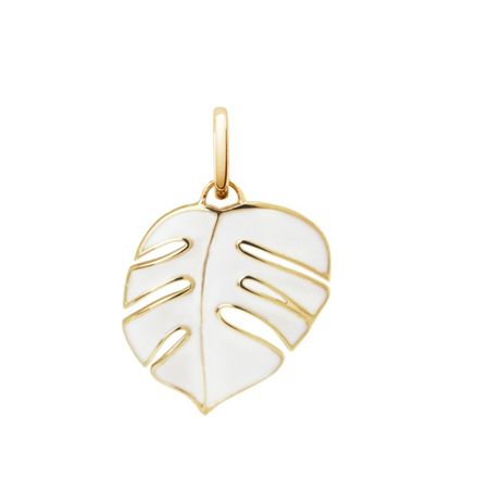 OAK Monsoon palm leaf pendant charm