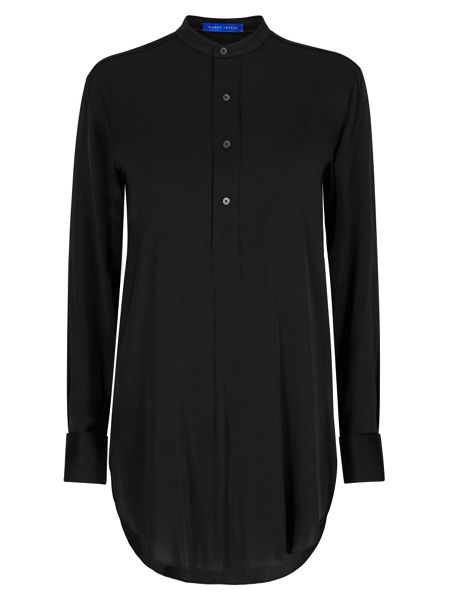Winser London Long Length Silk Tunic Shirt