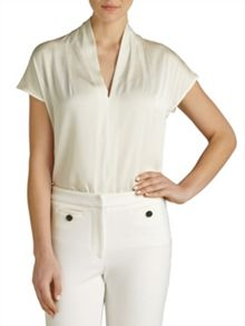 Winser London V Neck Silk Top
