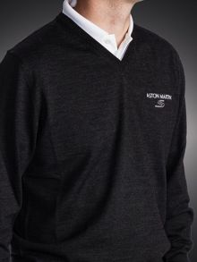 Aston Martin High V Merino Sweater