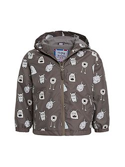 Boys Monster Colour Change Rain Coat