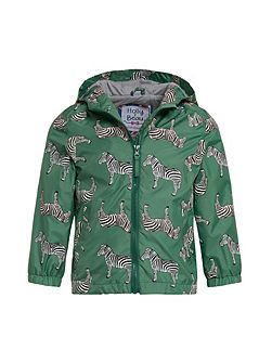 Boys Zebra Colour Change Rain Coat
