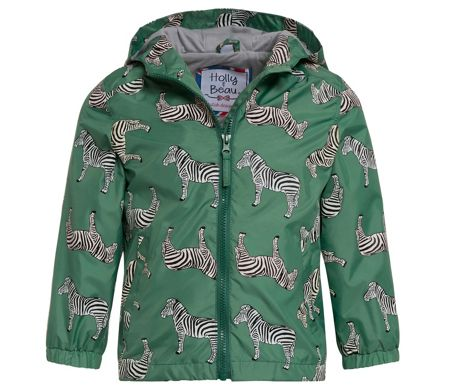 Holly & Beau Boys Zebra Colour Change Rain Coat
